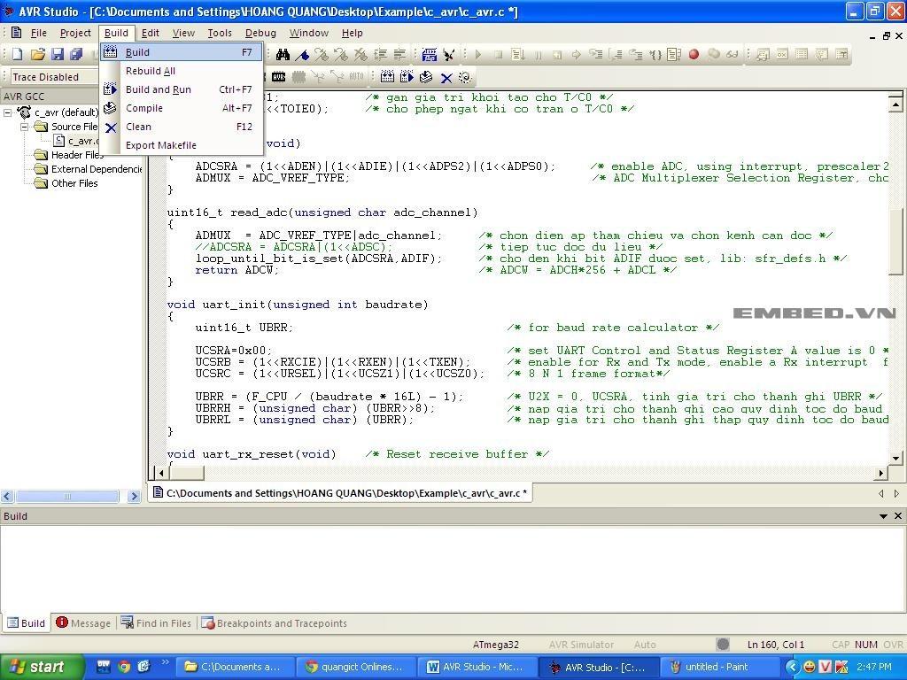 Hướng dẫn sử dụng AVR Studio để lập trình, biên dịch và nạp chip AVR